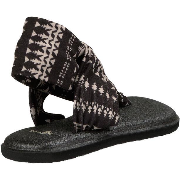 Sanük Yoga Sling 2 Prints Sandals Dam black/natural koa tribal