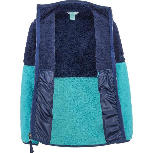 Marmot Lariat Fleece Jacket Flickor blue tile/arctic navy