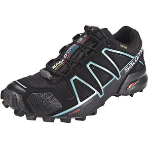Salomon Speedcross 4 GTX Shoes Dam black/black/metallic bubble blue black/black/metallic bubble blue