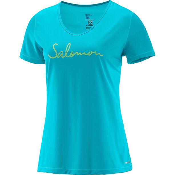 Salomon Mazy Graphic SS Tee Dam blue bird