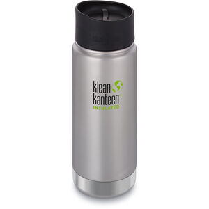 Klean Kanteen Wide Vacuum Insulated Bottle Café Cap 2.0 473ml brushed stainless brushed stainless