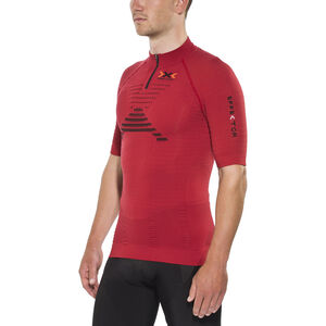 X-Bionic Trail Running Effektor Zip-Up Shirt SS Herr paprika/black paprika/black