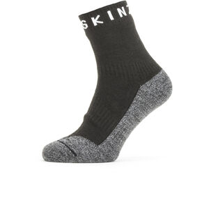 Sealskinz Waterproof Warm Weather Soft Touch Ankle Socks Black/Grey Marl/White Black/Grey Marl/White