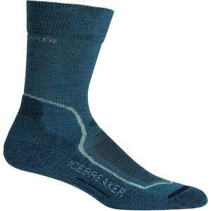 Icebreaker Hike+ Light Crew Socks Dam thunder/aqua splash/midnight navy thunder/aqua splash/midnight navy