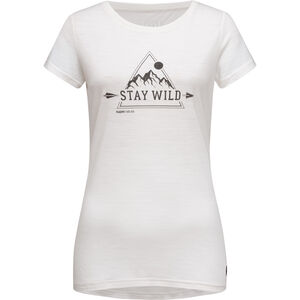 super.natural Print Tee Stay Wild Dam fresh white/jet black fresh white/jet black