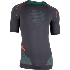 UYN Multisport Evolutyion UW SS Shirt Herr charcoal/green/orange shiny charcoal/green/orange shiny