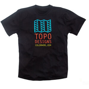 Topo Designs Original Logo Tee Herr black black
