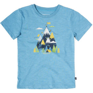 United By Blue Summit SS Graphic Tee Ungdomar Ripple Blue Ripple Blue