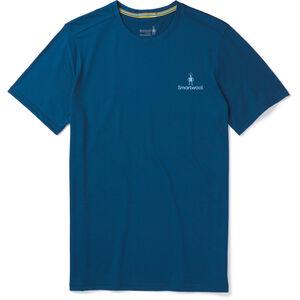 Smartwool Merino Sport 150 Logo Tee Herr Alpine Blue Alpine Blue