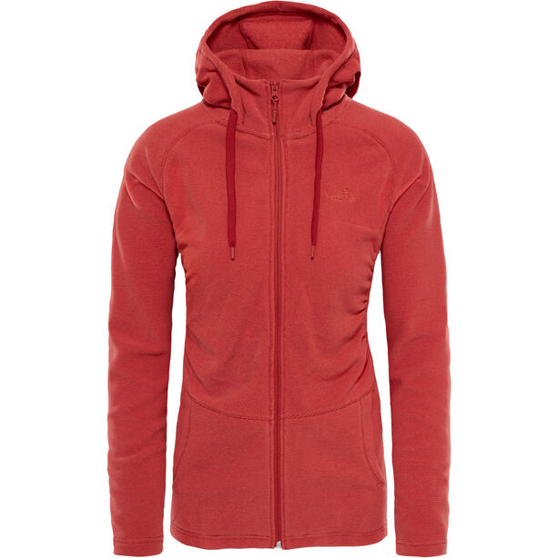 The North Face Mezzaluna Full Zip Hoodie Dam bossa nova red stripe