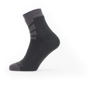 Sealskinz Waterproof Warm Weather Ankle Socks Black/Grey Black/Grey