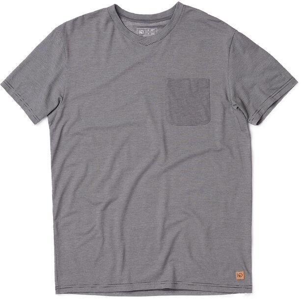 tentree Micro Boulder Pocket T-Shirt Herr meteorite black micro stripe