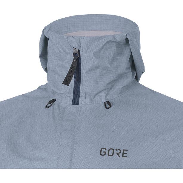 GORE WEAR H5 Gore-Tex Active Hooded Jacket Herr deep water blue/cloudy blue