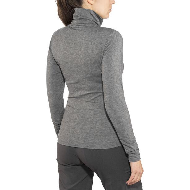 Craft Essential Warm Turtleneck Shirt Dam dk grey melange