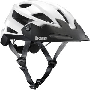 Bern FL-1 TRAIL Helmet with Visor gloss white gloss white