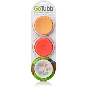 humangear GoTubb Medium Travel Accessorie 3-Pack clear/orange/red clear/orange/red