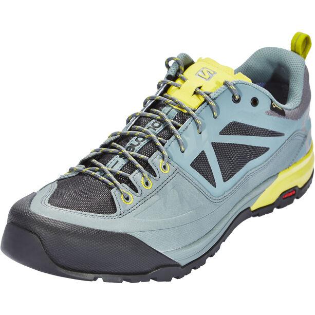 Salomon X Alp SPRY GTX Shoes Herr stormy weather/magnet/citronelle