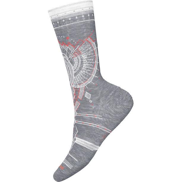 Smartwool Mountain Magpie Crew Socks Dam light gray