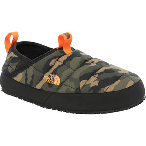 The North Face Y Thermal Tent Mule II Shoes Barn Burnt Olive Green Woodland Camo Print/TNF Black Burnt Olive Green Woodland Camo Print/TNF Black