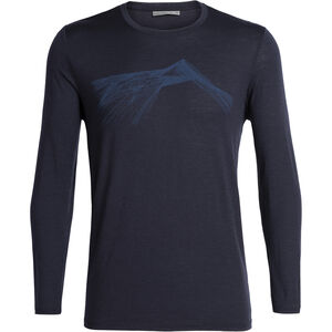 Icebreaker Tech Lite Shear LS Crewe Shirt Herr Midnight Navy Midnight Navy