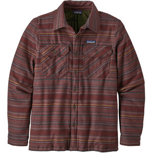 Patagonia Insulated Fjord Flannel Jacket Herr folk dobby/dark ruby folk dobby/dark ruby