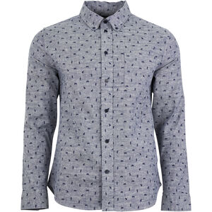 United By Blue Norde Stretch LS Button Down Herr navy-grizzly navy-grizzly