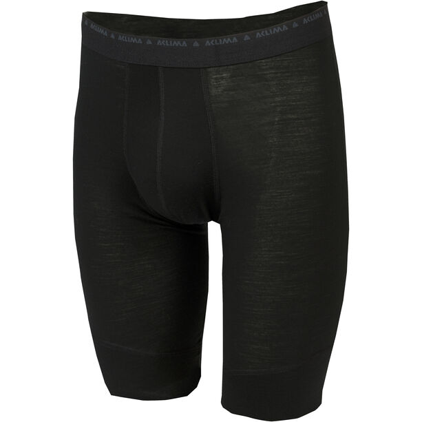 Aclima Lightwool Long Shorts Herr jet black