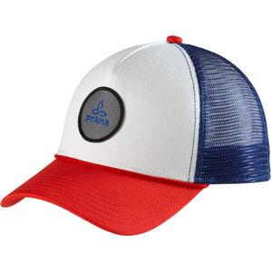 Prana Patch Trucker Hat Dam red white blue red white blue