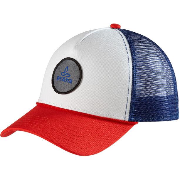 Prana Patch Trucker Hat Dam red white blue