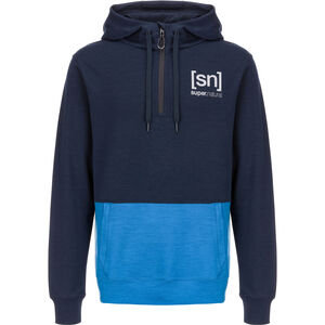 super.natural Movement Half Zip Shirt Herr navy blazer/vallarta blue navy blazer/vallarta blue