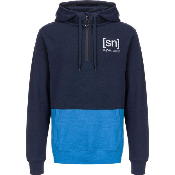 super.natural Movement Half Zip Shirt Herr navy blazer/vallarta blue