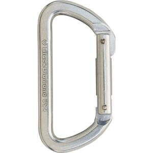 Black Diamond Light D Carabiner silver silver