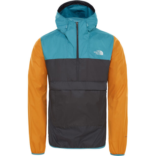 The North Face Fanorak Pullover Herr asphalt grey/storm blue/citron yellow