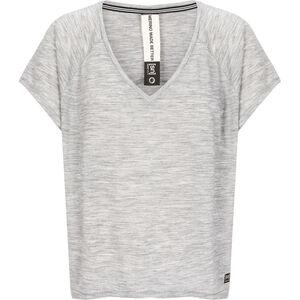 super.natural Jonser T-shirt Dam ash melange/jet black namaste print ash melange/jet black namaste print