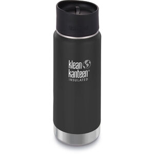 Klean Kanteen Wide Vacuum Insulated Bottle Café Cap 2.0 473ml shale black matt shale black matt