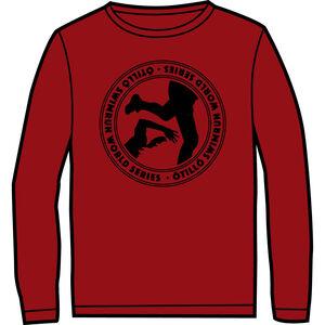 ÖTILLÖ Crew LS Shirt Dam burgundy burgundy