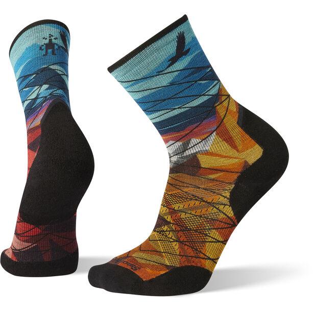 Smartwool PhD Pro Endurance Print Socks Herr bright blue
