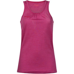 Bergans Cecilie Wool Singlet Dam bougainvillea melange/strawberry bougainvillea melange/strawberry