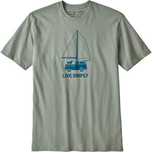 Patagonia Live Simply Wind Powered Responsibili-Tee Herr celadon celadon