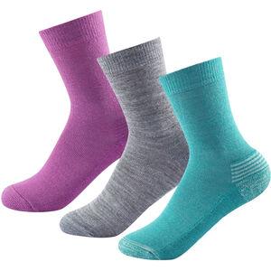 Devold Daily Medium Socks 3 Pack Barn girl mix girl mix