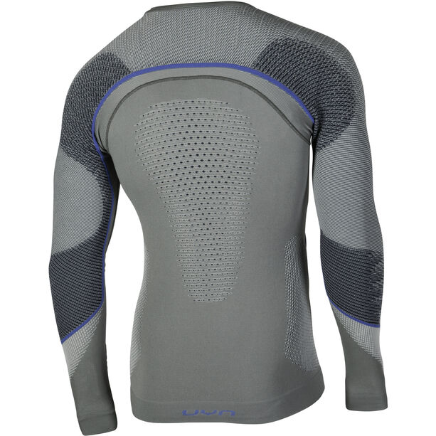 UYN Ambityon UW LS Shirt Herr medium grey/blue/royal blue