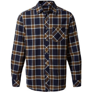 Craghoppers Cogwheel Long Sleeved Shirt Herr blue navy check blue navy check