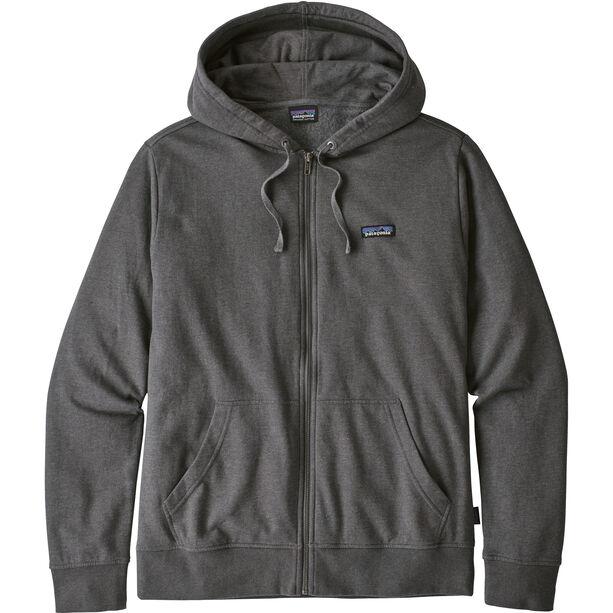 Patagonia P-6 Label Lightweight Full Zip Hoody Herr forge grey