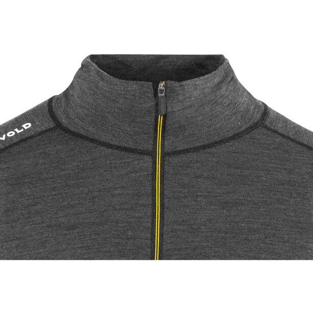 Devold Running Zip Neck LS Shirt Herr anthracite