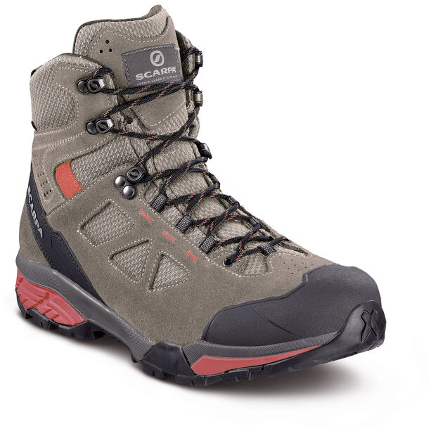 Scarpa Zg Lite GTX Shoes Dam taupe-red ibiscus