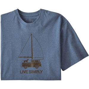 Patagonia Live Simply Wind Powered Responsibili-Tee Herr woolly blue woolly blue