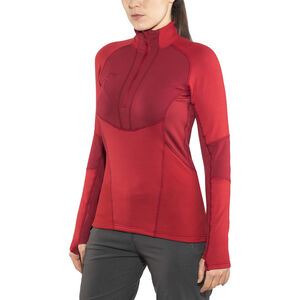 Bergans Roni Half-Zip Shirt Dam red/burgundy red/burgundy