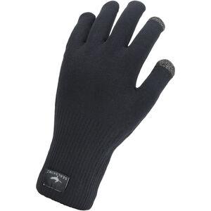 Sealskinz Waterproof All Weather Ultra Grip Knitted Gloves Black Black