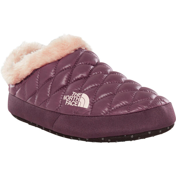 The North Face ThermoBall Tent Mule Faux Fur IV Shoes Dam shiny fig/vintage white