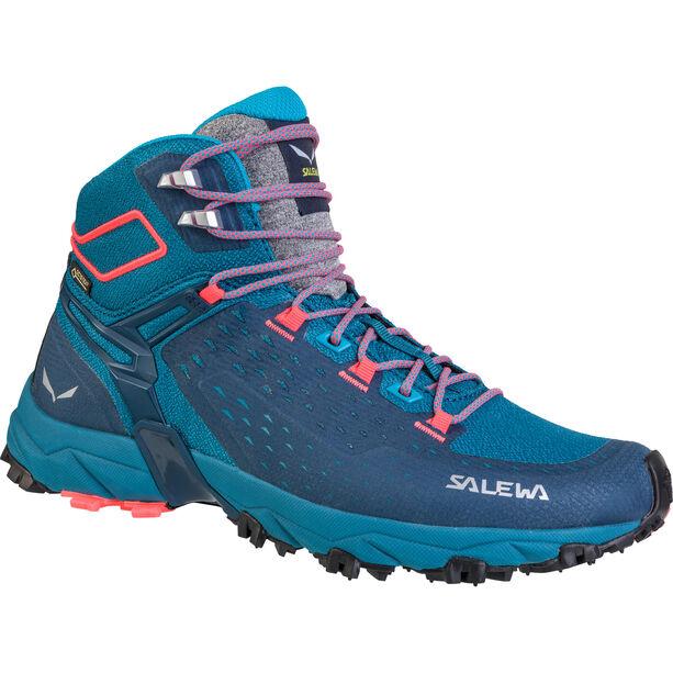 SALEWA Alpenrose Ultra Mid GTX Shoes Dam blue sapphire/fluo coral